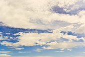 blue sky background with cloudy and sunshine