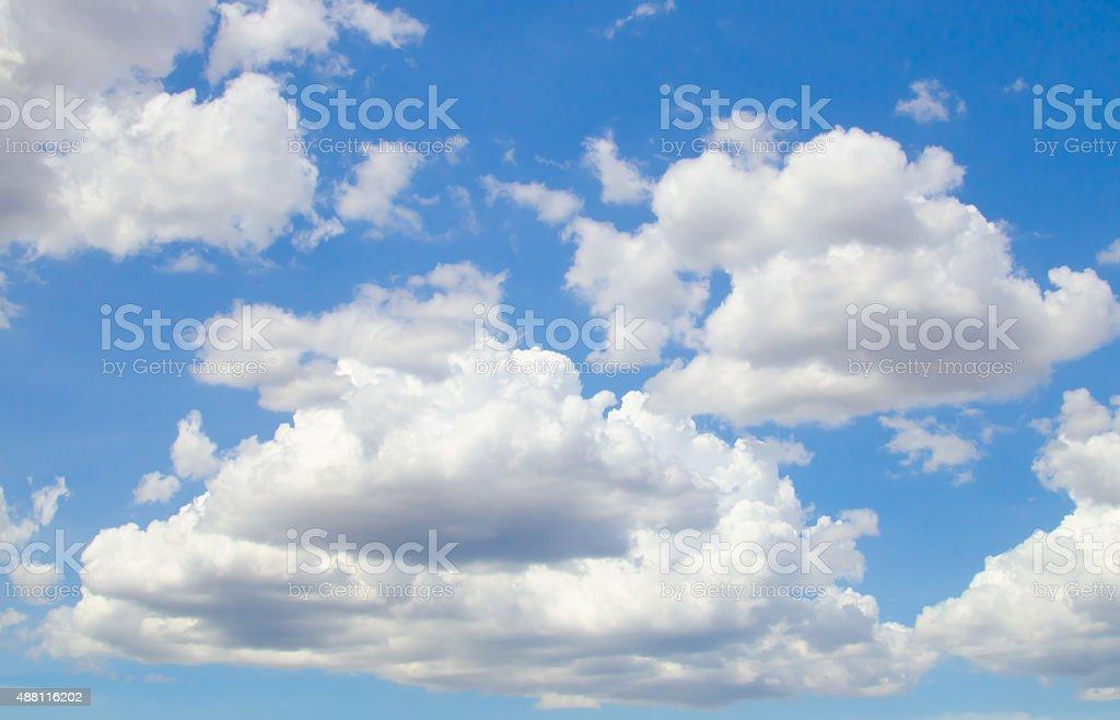 blue sky backgrounds stock photo