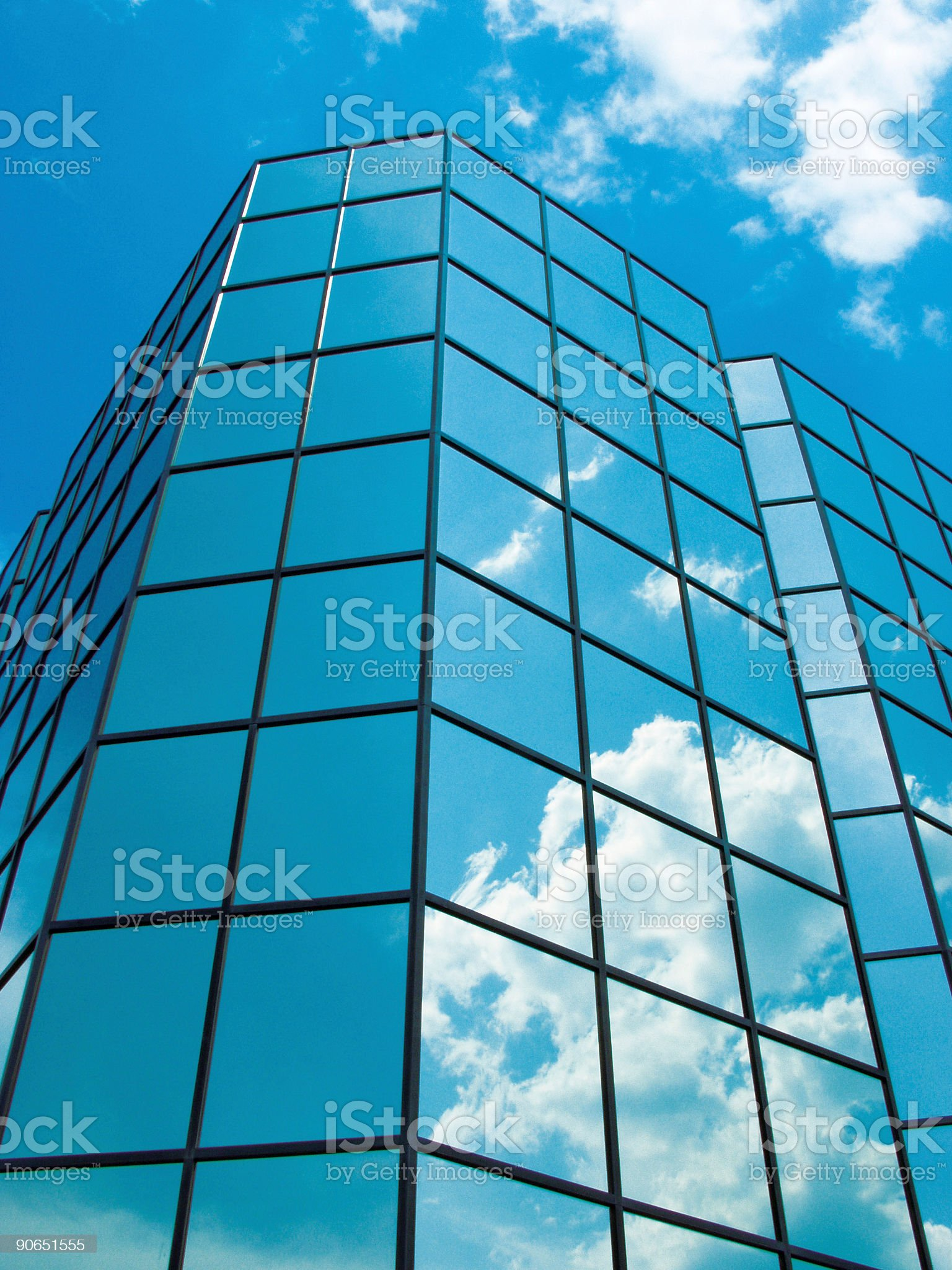 Blue Sky Building no1 royalty-free stock photo