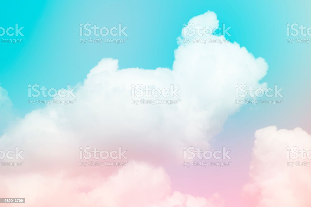 Blue sky color with clouds background photo stock photo