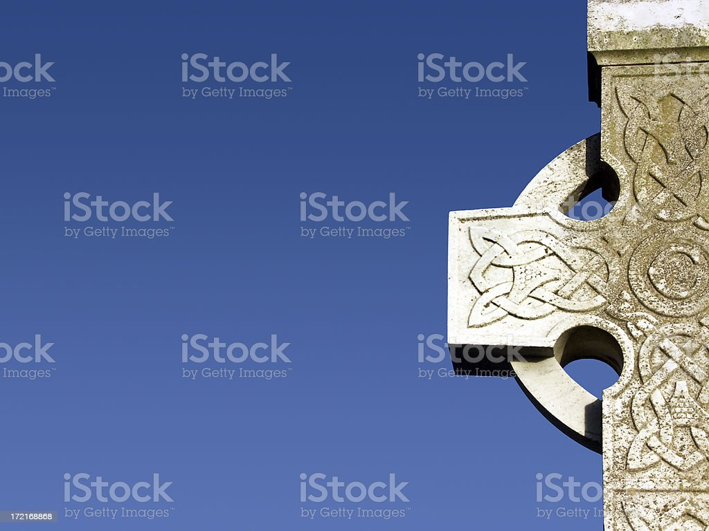 Blue sky cross royalty-free stock photo