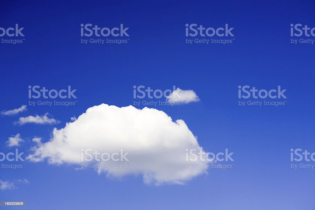 Blue sky, fluffy cloud royalty-free stock photo
