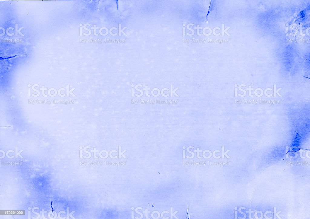 Blue sky frame - painted in water-colours stock photo