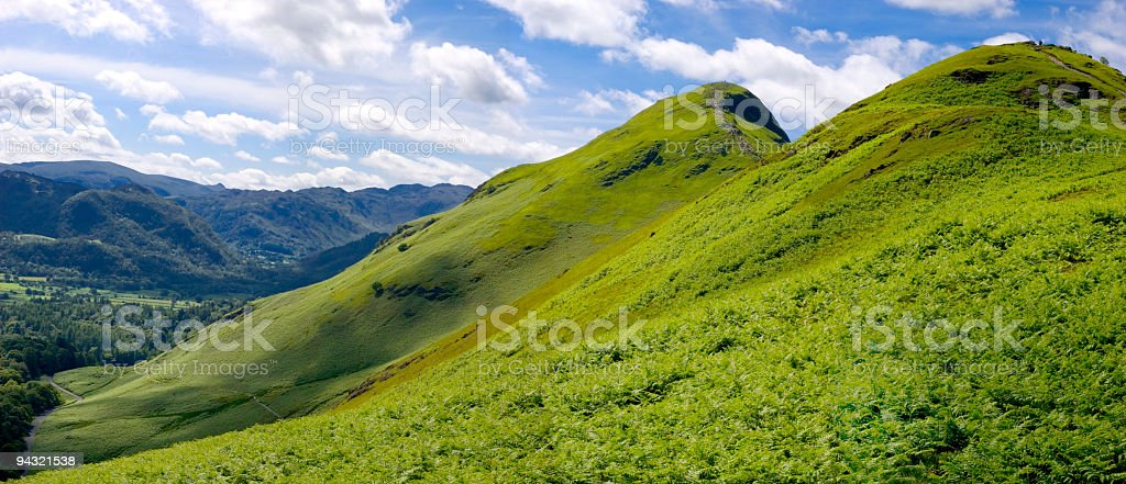 Blue sky, green mountain royalty-free stock photo