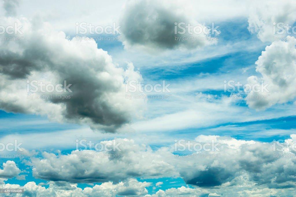 Blue sky having rain clouds royalty-free stock photo