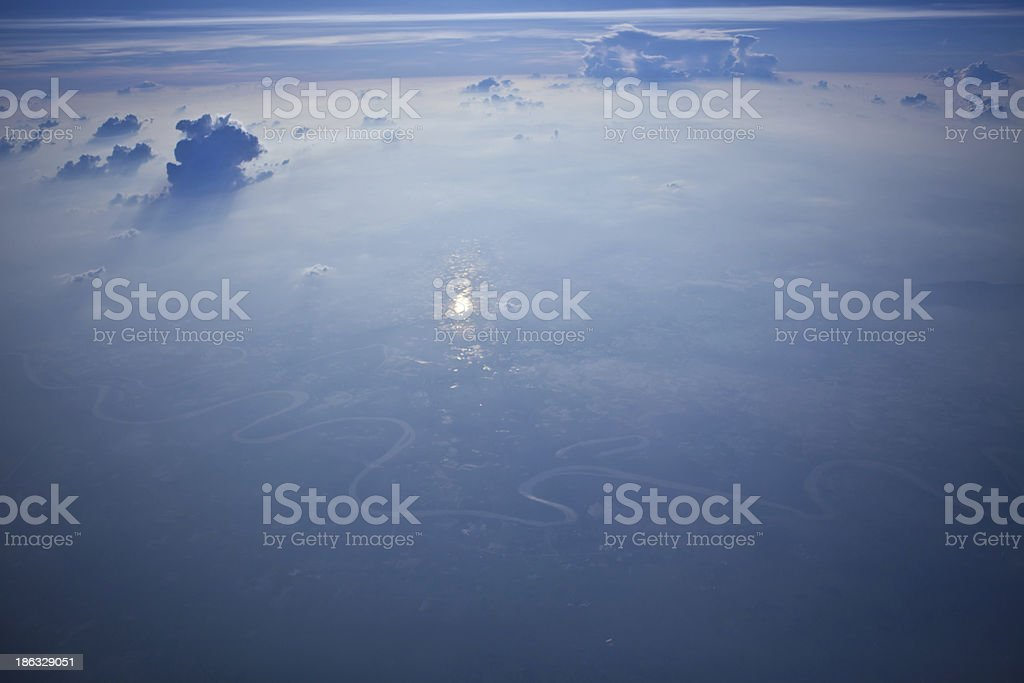 blue sky high view royalty-free stock photo