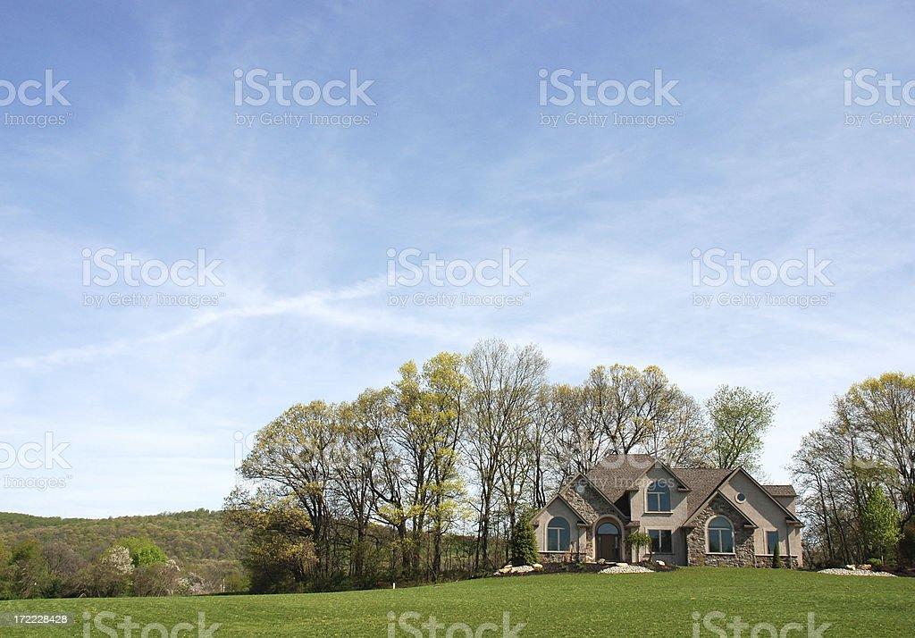 Blue Sky House royalty-free stock photo