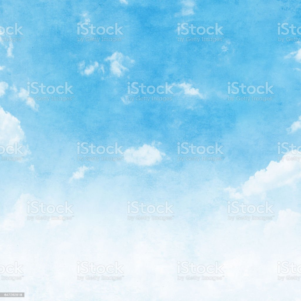 Blue sky in grunge style. stock photo