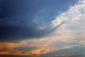 blue sky in sunset beautiful nature