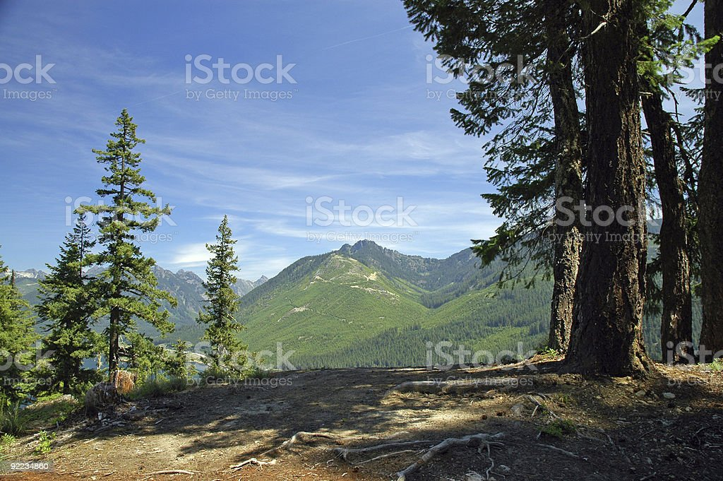 Blue Sky in the Cascade Mountains royalty-free stock photo
