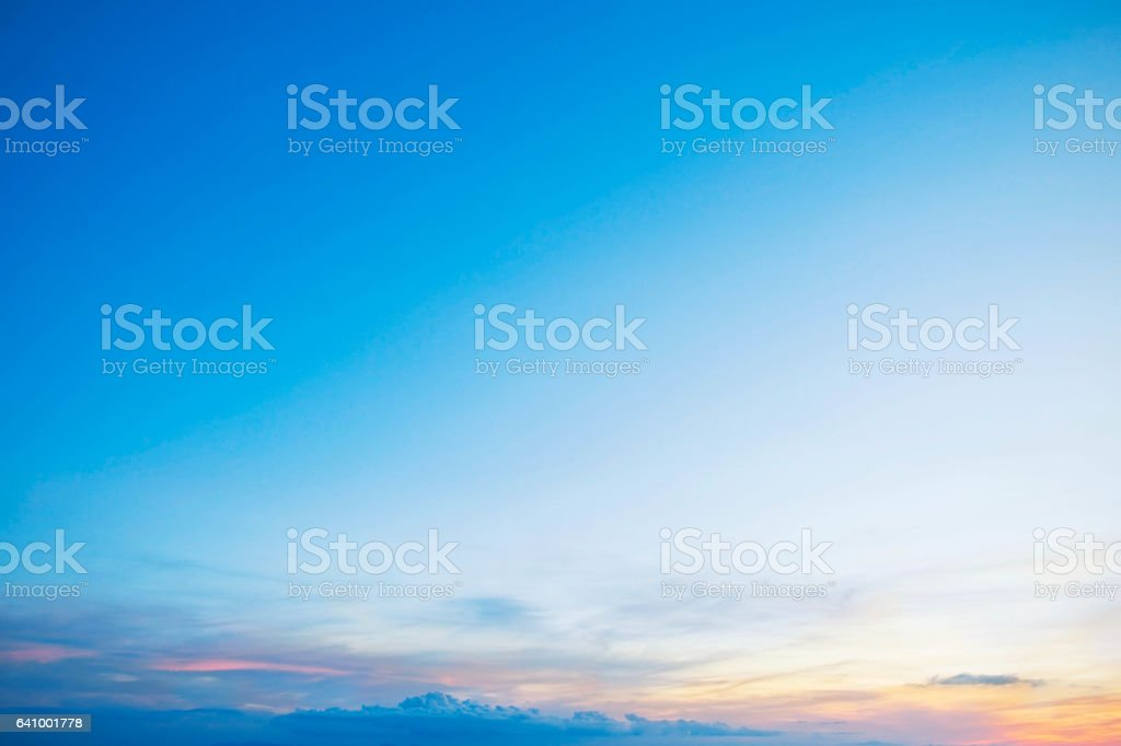 Blue sky in the winter. stock photo