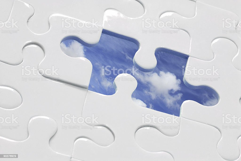 Blue Sky Jigsaw royalty-free stock photo