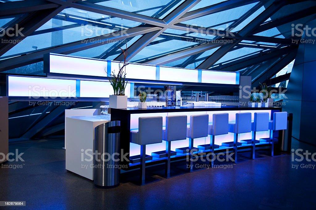 blue sky lounge bar stock photo