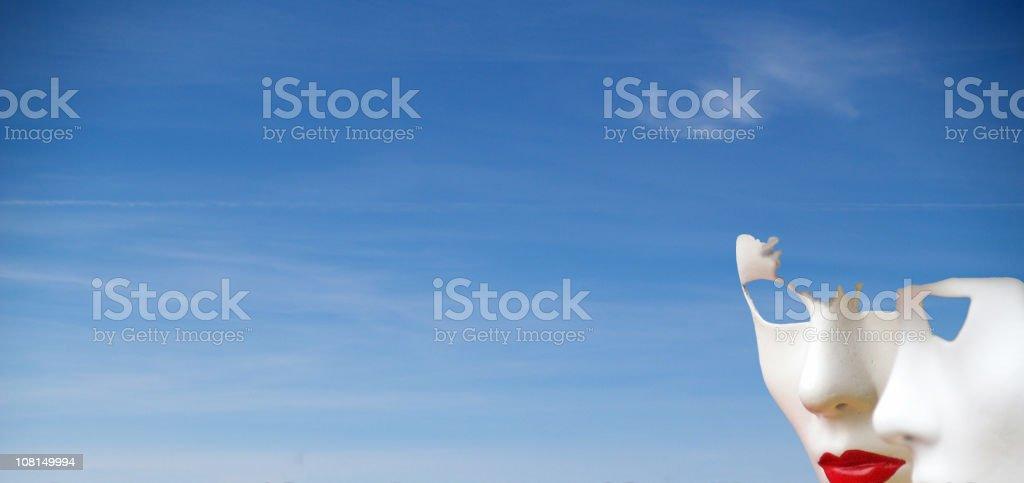 Blue Sky & Masks stock photo