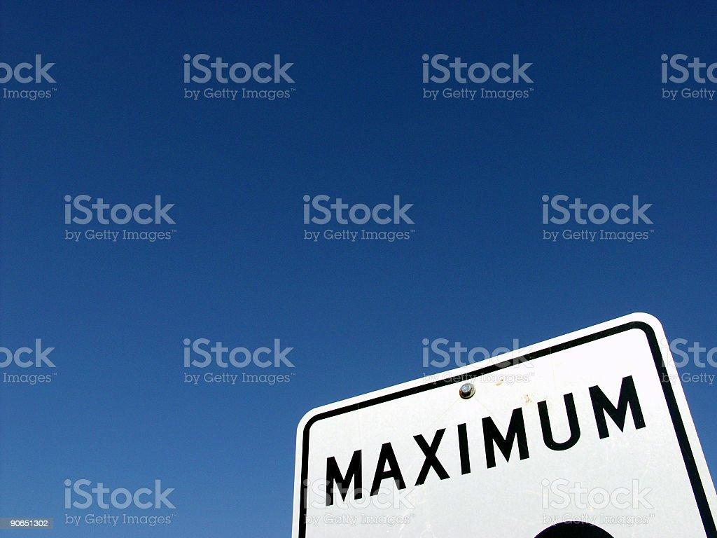 Blue Sky Maximum royalty-free stock photo