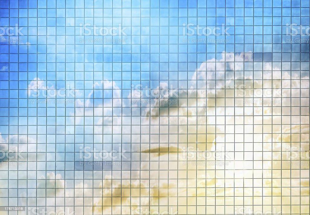 blue sky mosaic stock photo