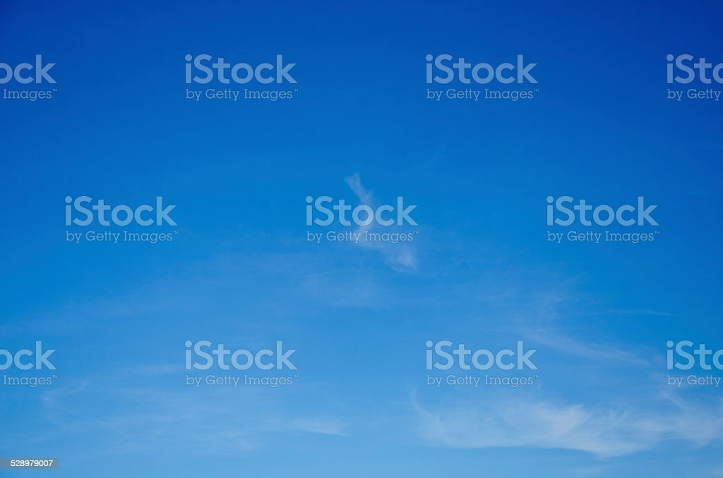 Blue sky number two stock photo
