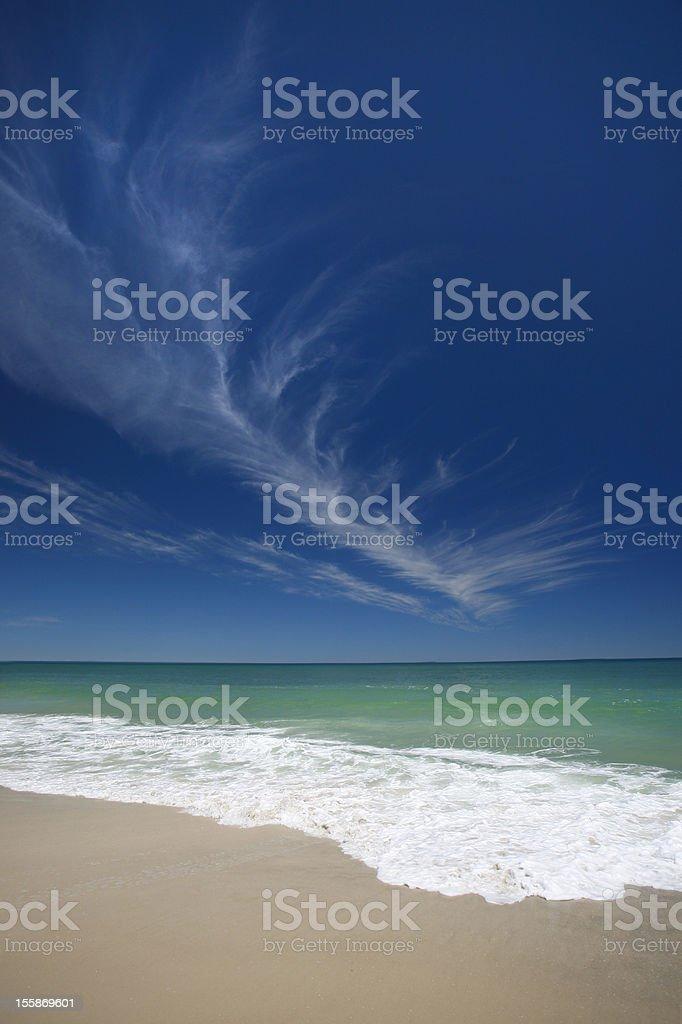 Blue sky ocean royalty-free stock photo