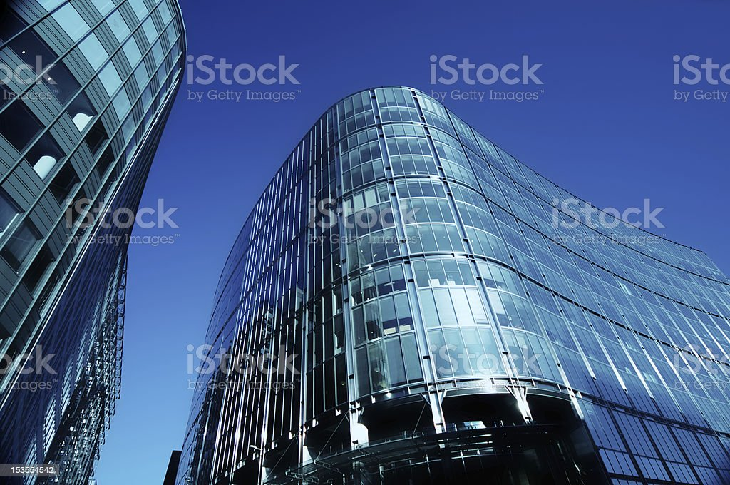 Blue Sky Offices royalty-free stock photo