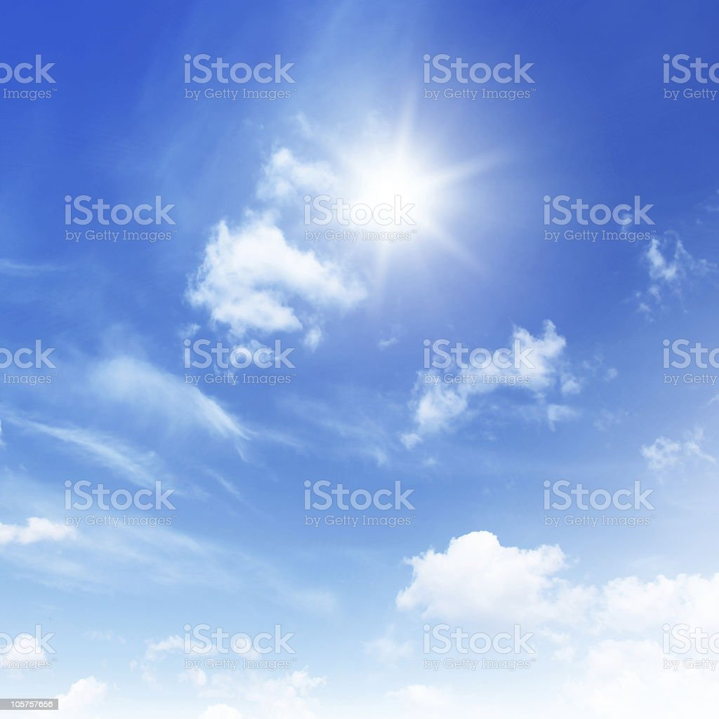 Blue sky on sunny day. royalty-free stock photo
