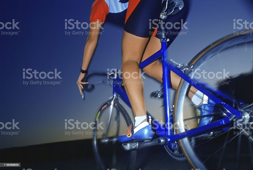 blue sky over athlete royalty-free stock photo