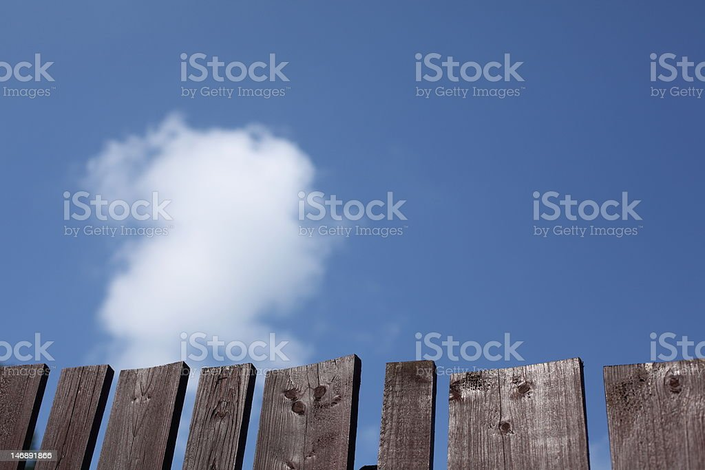 blue sky over fence royalty-free stock photo