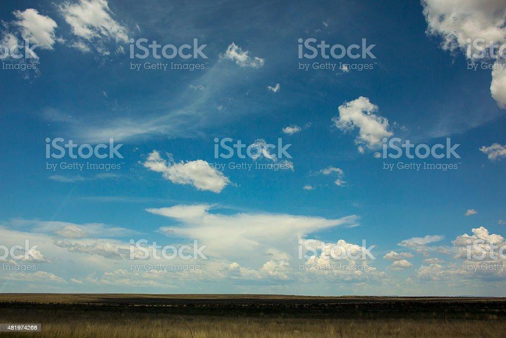 Cielo blu su campo foto stock royalty-free