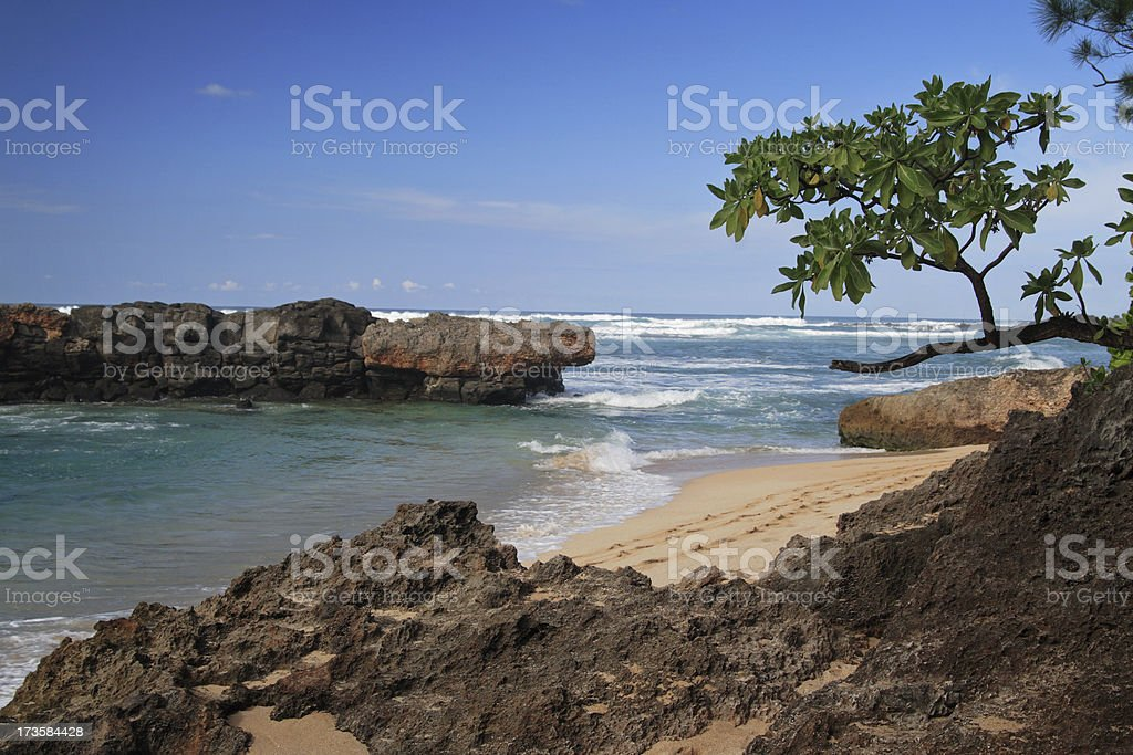 Blue Sky over Hawaii beach royalty-free stock photo