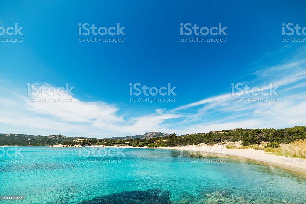 blue sky over La Celvia stock photo