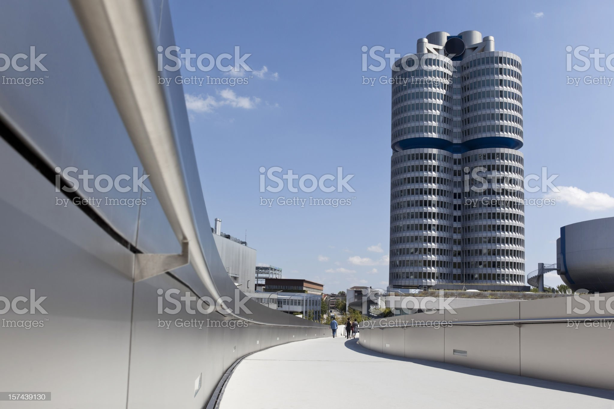 Blue sky over modern building in Munich Germany royalty-free stock photo