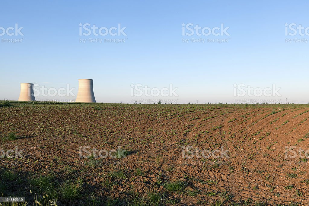 Blue Sky Over Power Station royalty-free stock photo