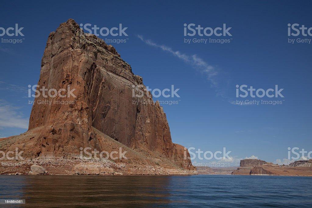 Blue Sky Over Red Rocks Of Lake Powell Utah stock photo