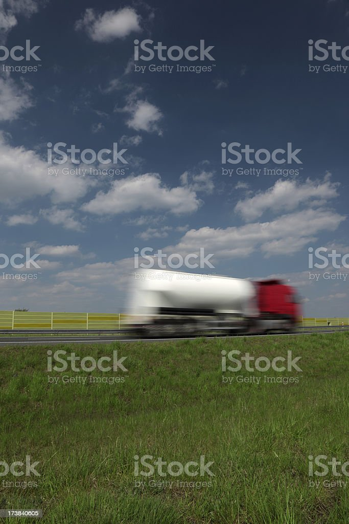 Blue Sky Over Red Truck royalty-free stock photo