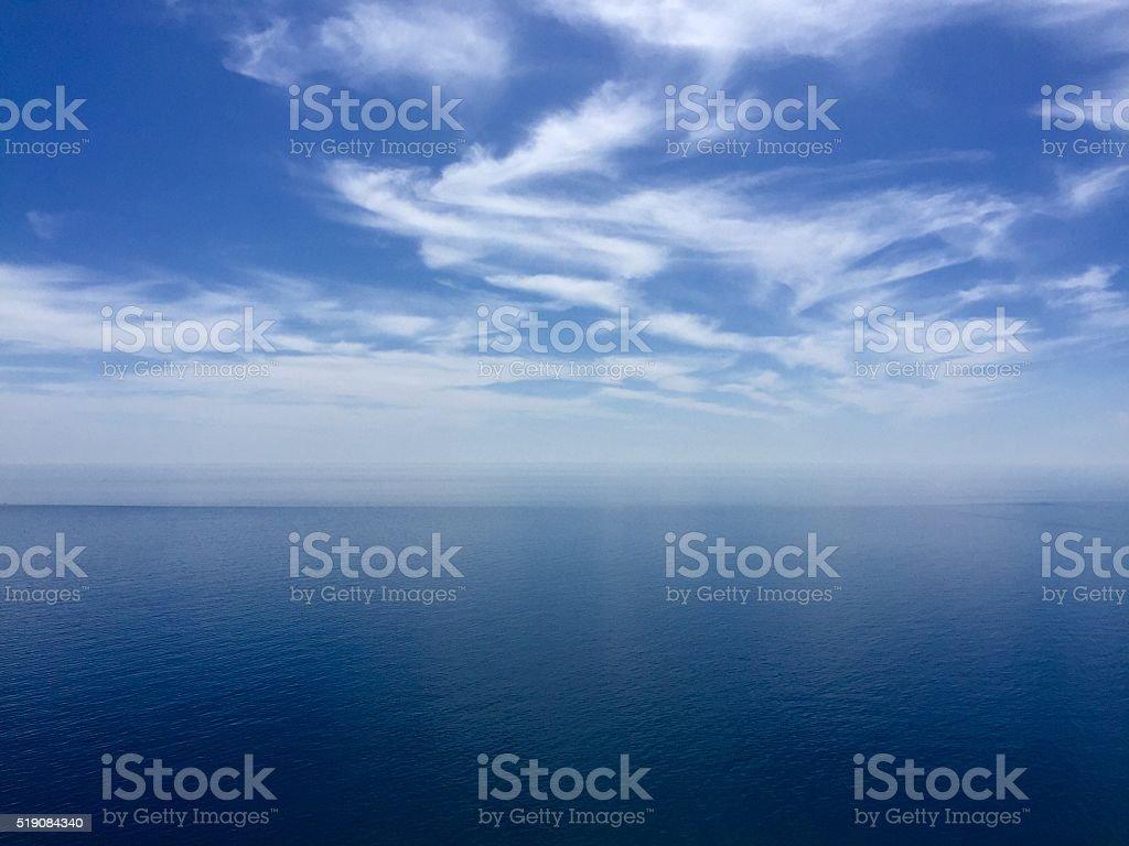 Blue sky over sea stock photo