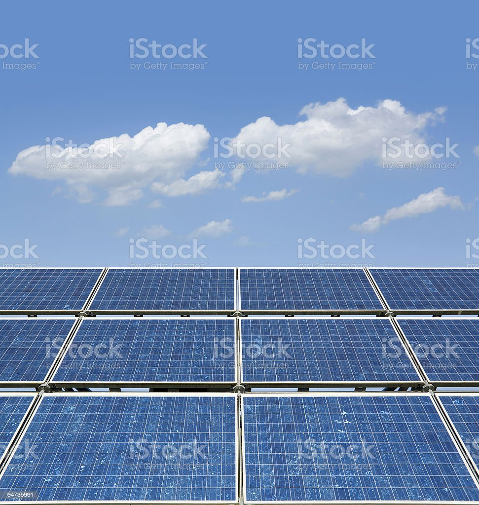Blue sky over solar panel royalty-free stock photo