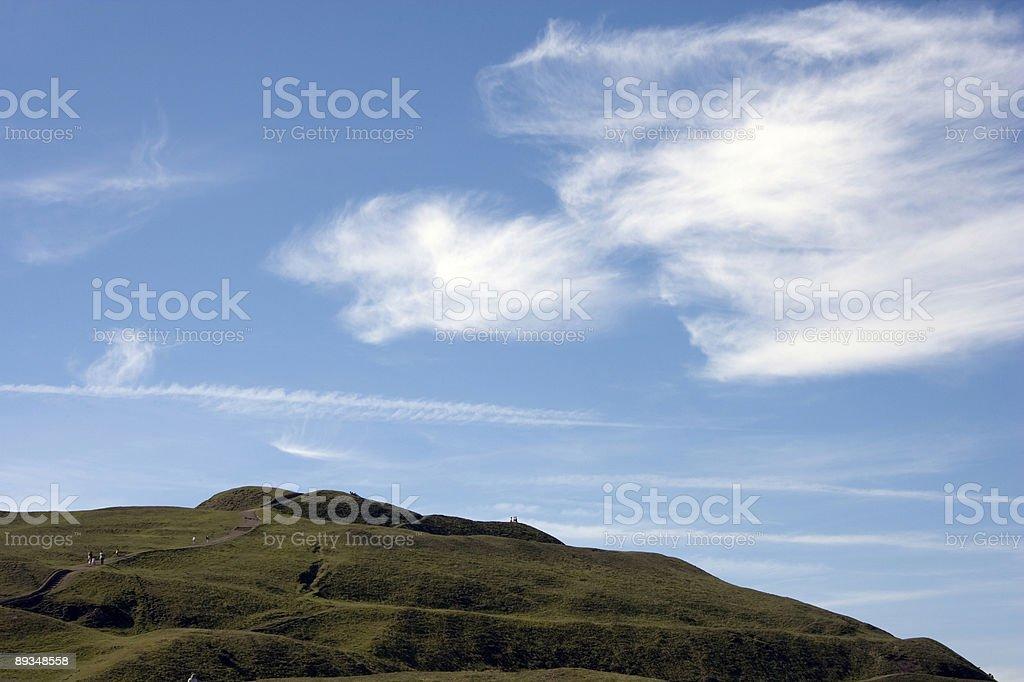Blue Sky over the Malvern Hills stock photo