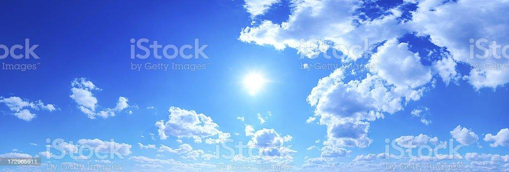 Blue Sky panorama royalty-free stock photo