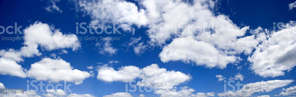 Blue sky panoramic photo royalty-free stock photo