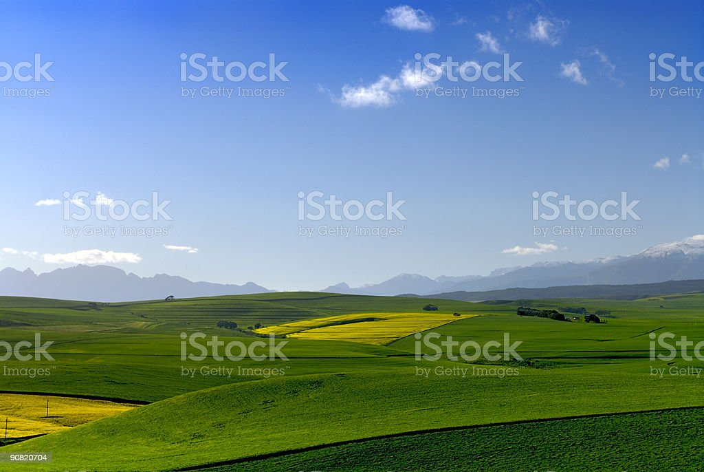 Blue Sky Patchwork stock photo
