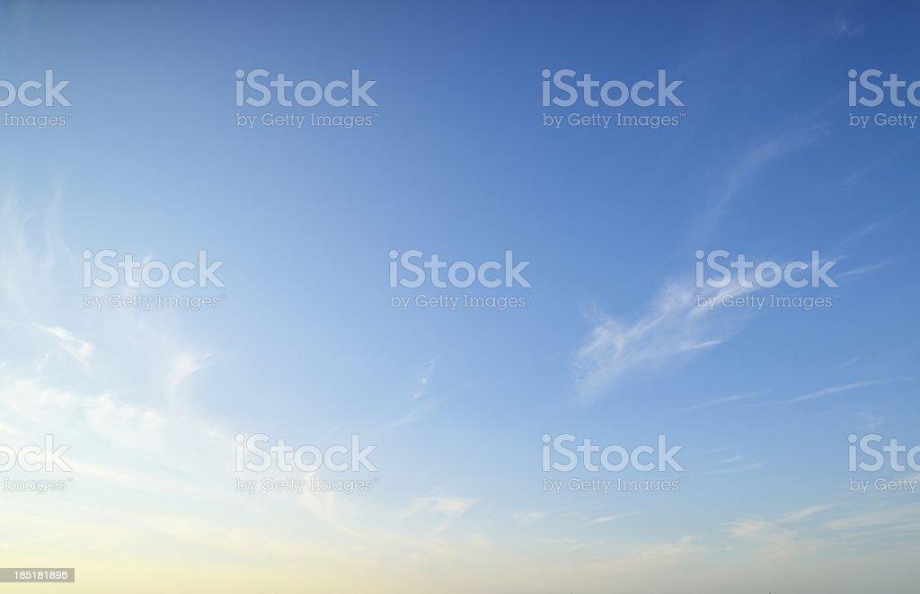 Blue sky. royalty-free stock photo