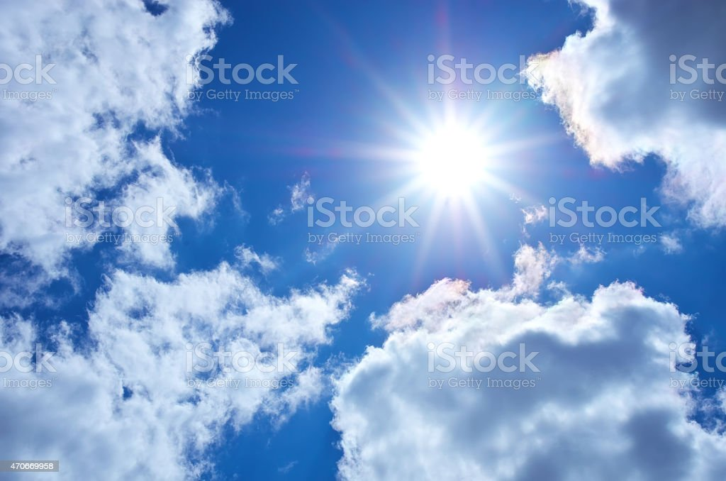 Blue sky. stock photo