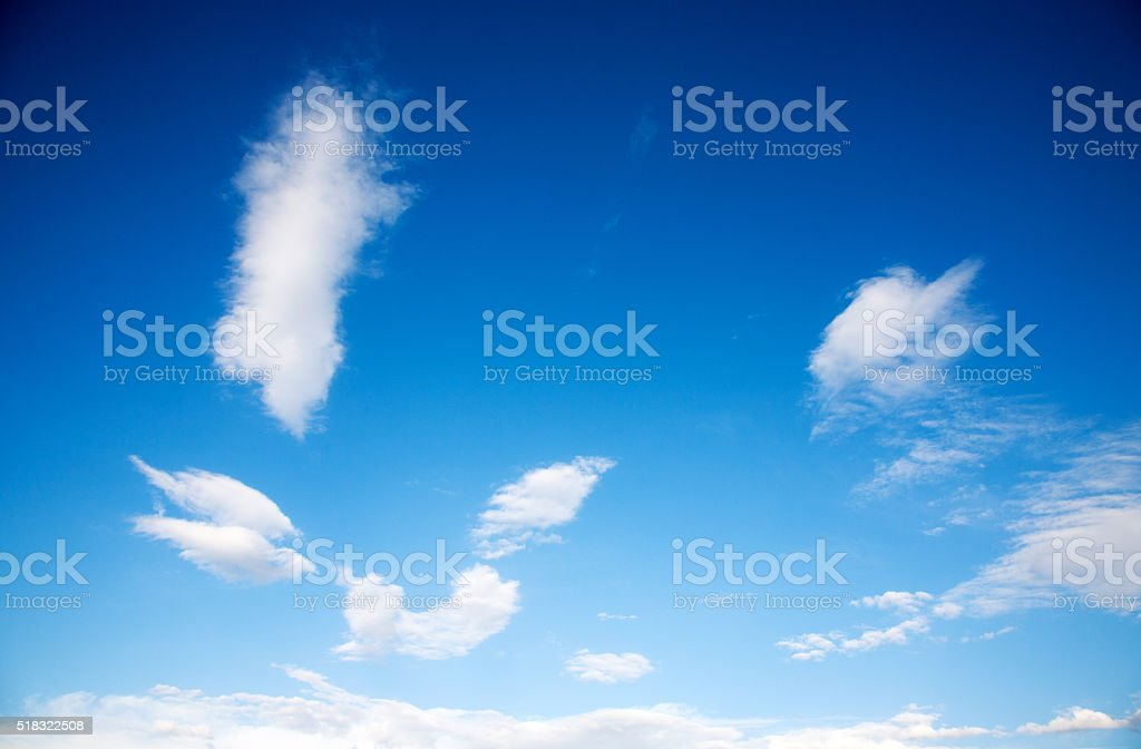 Blue sky. stock photo