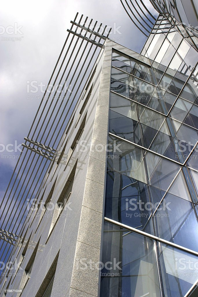 Blue sky reflection 03 royalty-free stock photo