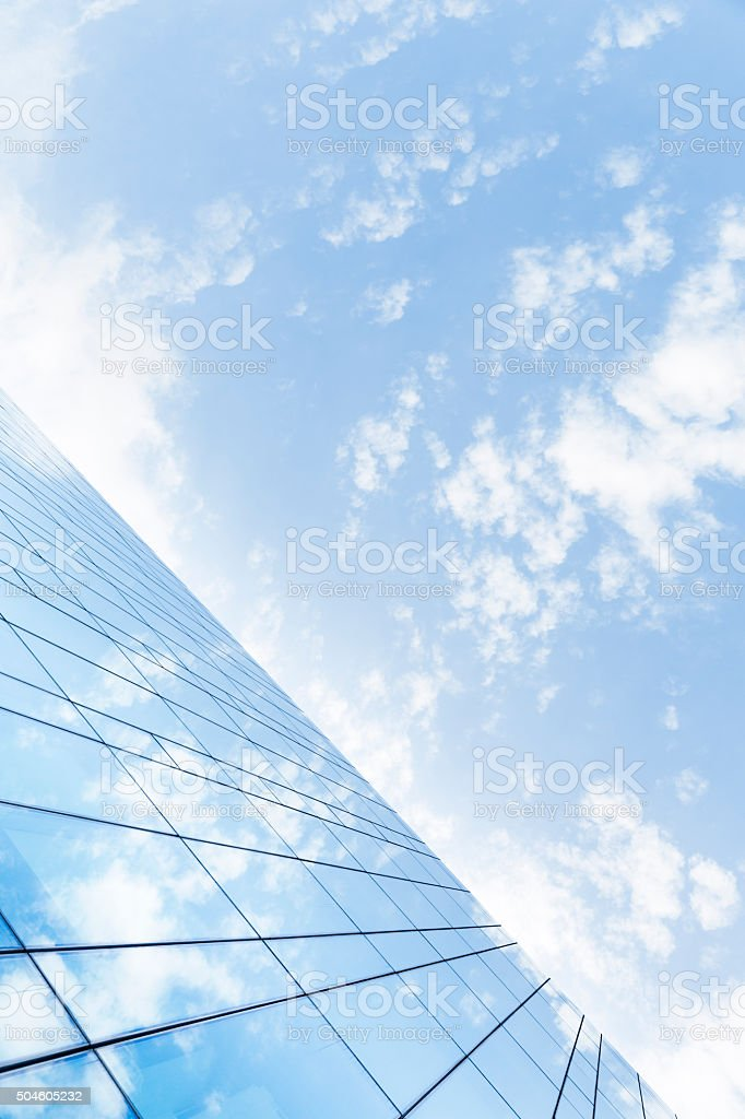 Blue Sky Reflections on Buildings stock photo