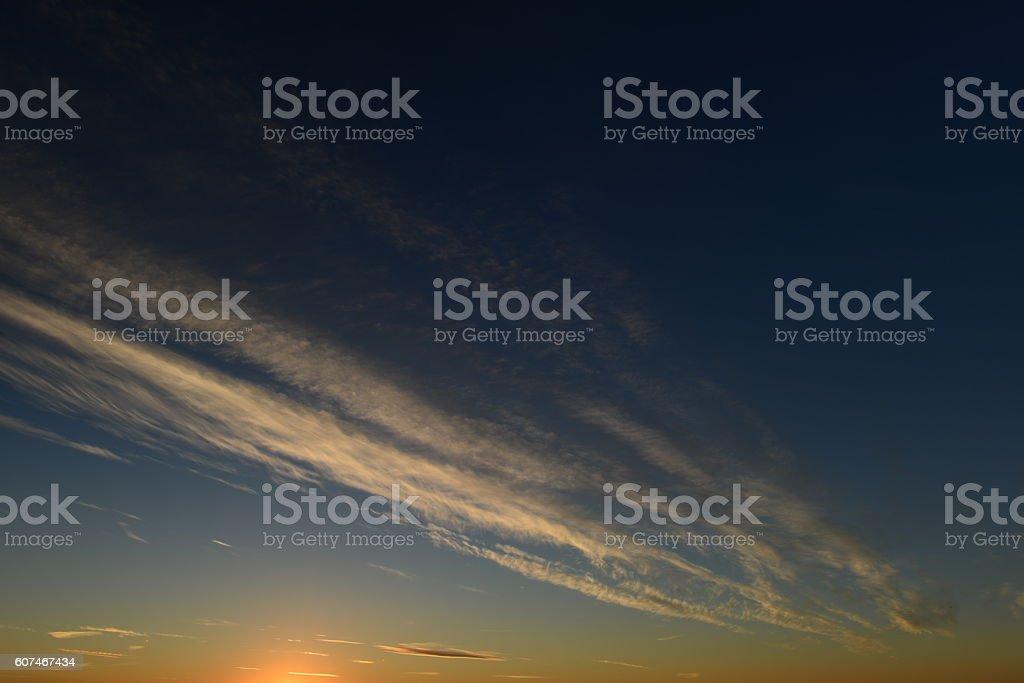 Blue sky white cirrus clouds stock photo