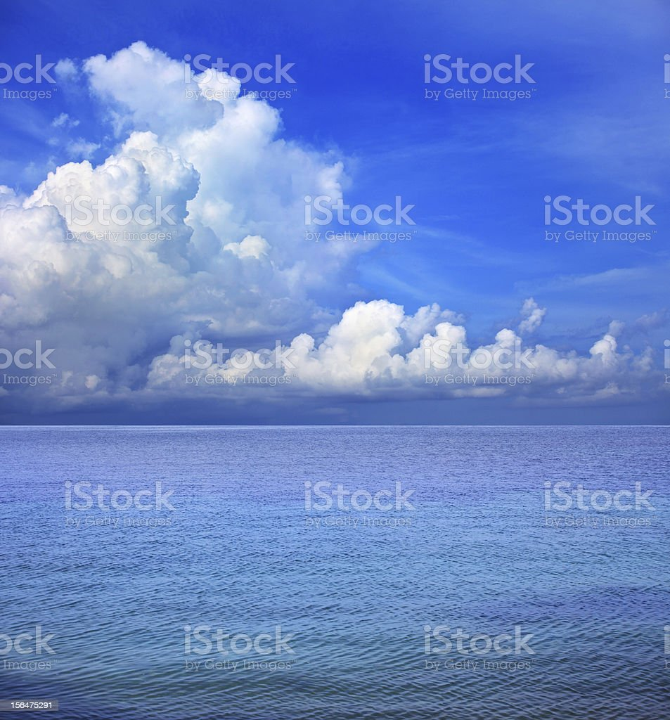blue sky white cloud over sea water royalty-free stock photo