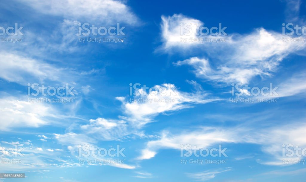 Blue sky white clouds Abstract nature stock photo