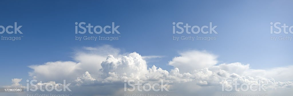 Blue Sky White Clouds royalty-free stock photo