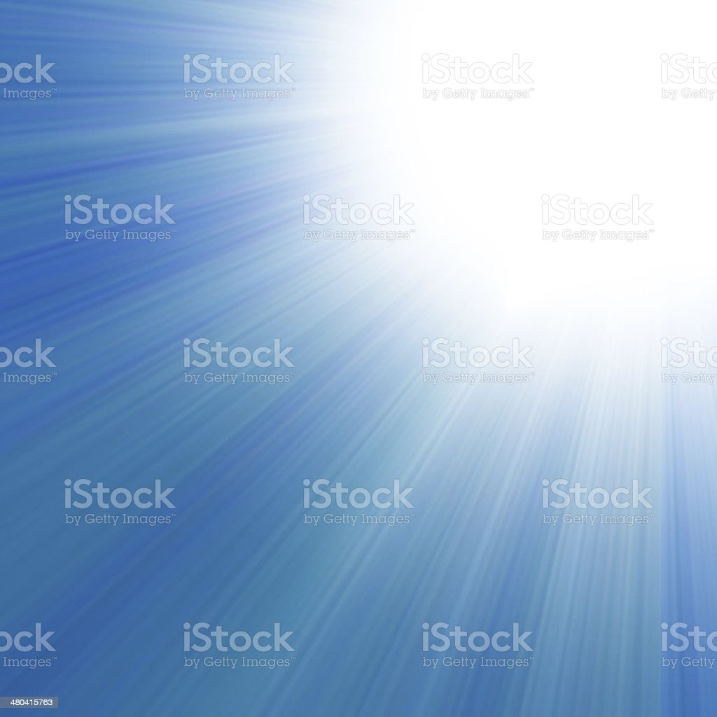 blue sky with a glow stock photo