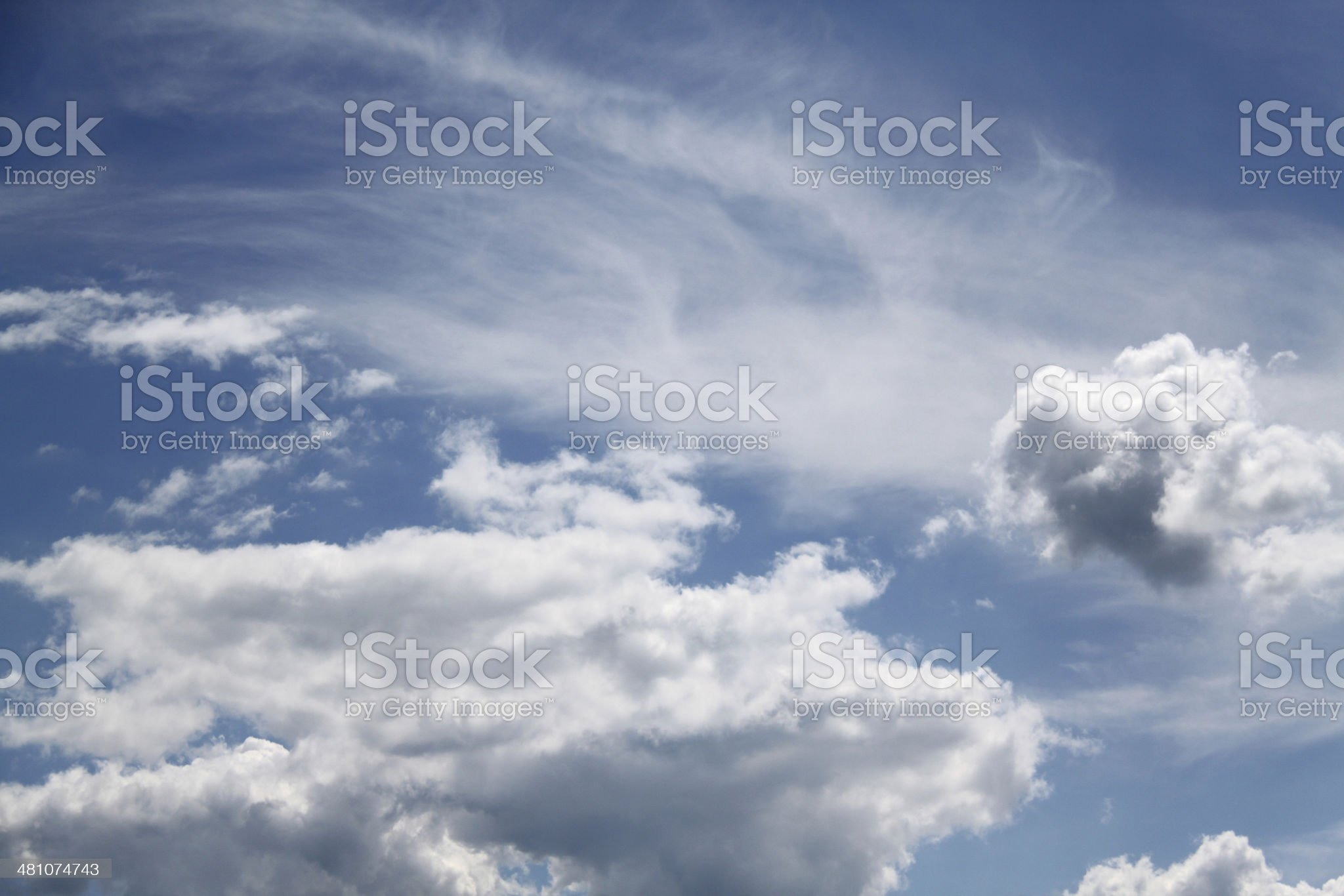 blue sky with beautiful clouds royalty-free stock photo